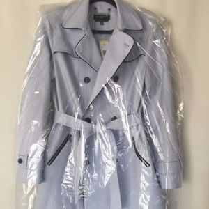 Jones New York Double Breasted Belted Trench Coat